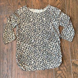 CHEROKEE Leopard 3/4 Sleeve Shirt